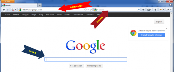 Make Google your default search provider – Google