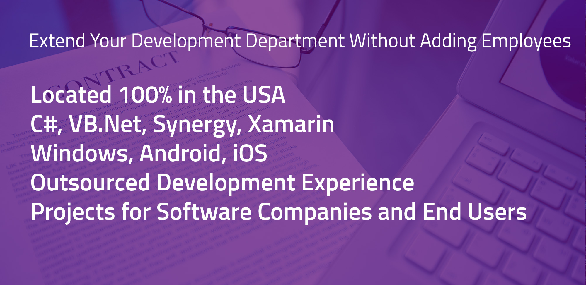 Extend Your Development Department, US Based Contract Developers